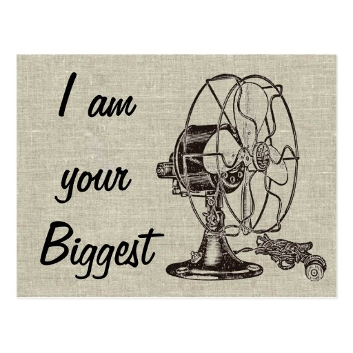 Vintage Steampunk I Am Your Biggest Fan Post Card