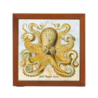 Vintage Steampunk Nautical Octopus Sea Creature Desk Organiser