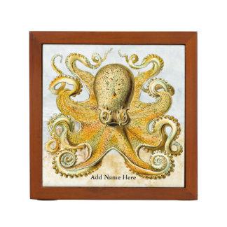 Vintage Steampunk Nautical Octopus Sea Creature Pencil Holder