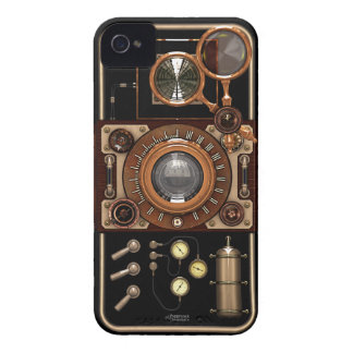Vintage Steampunk TLR Camera (Dark) Case-Mate iPhone 4 Case