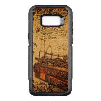 Vintage Steampunk Train Wallpaper OtterBox Commuter Samsung Galaxy S8+ Case