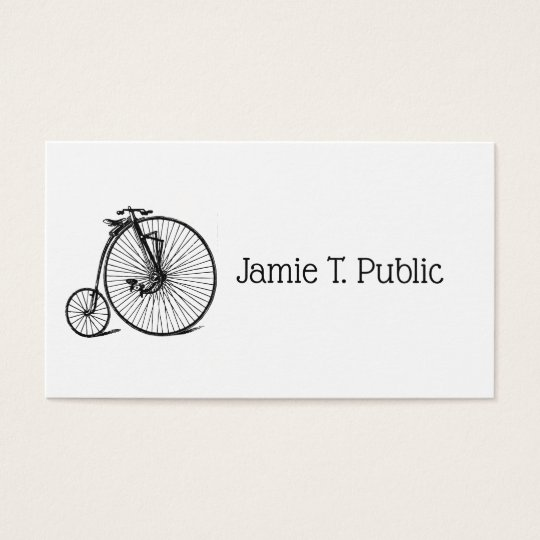 Vintage Steampunk Velocipede Bicycle Bike Business Card