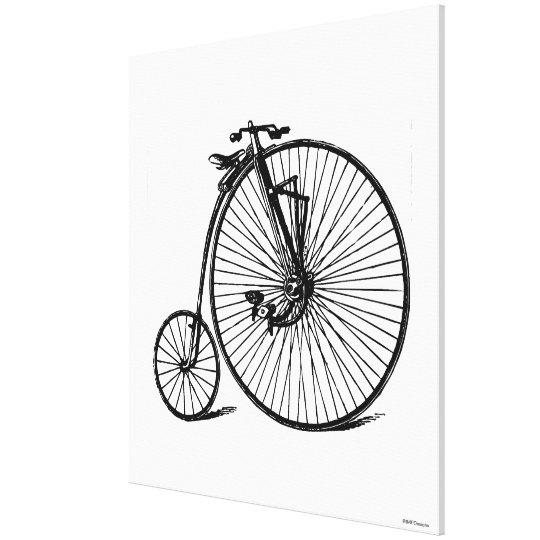 Vintage Steampunk Velocipede Bicycle Bike Canvas Print