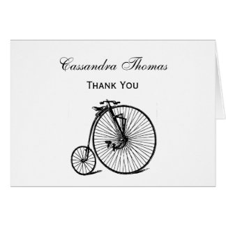 Vintage Steampunk Velocipede Bicycle Bike Card
