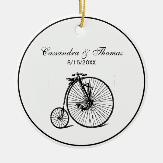 Vintage Steampunk Velocipede Bicycle Bike Ceramic Ornament