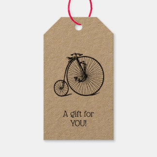 Vintage Steampunk Velocipede Bicycle Bike Gift Tags