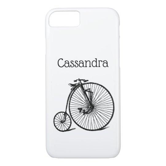 Vintage Steampunk Velocipede Bicycle Bike iPhone 8/7 Case
