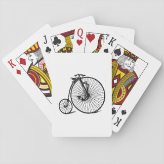 Vintage Steampunk Velocipede Bicycle Bike Playing Cards