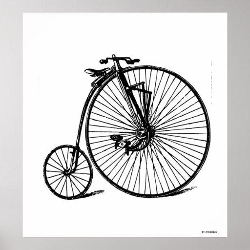 Vintage Steampunk Velocipede Bicycle Bike Poster