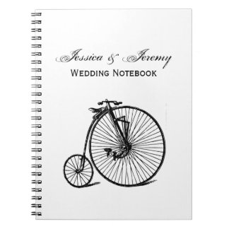 Vintage Steampunk Velocipede Bicycle Bike Spiral Notebook