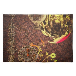 Vintage Steampunk Wallpaper Placemat