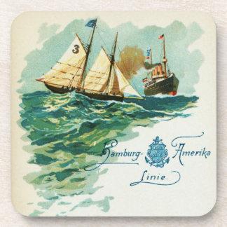 Vintage Steamship and Schooner Coaster Set