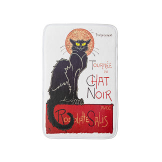 Vintage Steinlen Black Cat Chat Noir Art Bath Mat
