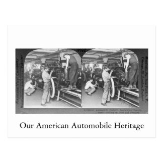 Vintage Stereoview Our Automobile Heritage Postcard