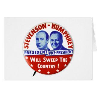Vintage Stevenson Humphrey Campaign Button Cards