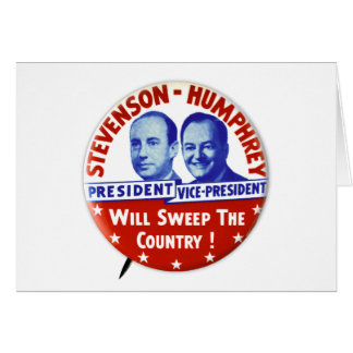Vintage Stevenson Humphrey Campaign Button Greeting Card
