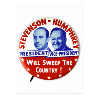 Vintage Stevenson Humphrey Campaign Button Postcard