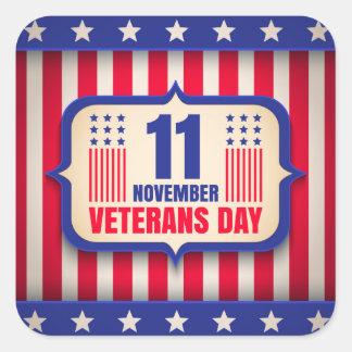 Vintage sticker for Veterans day