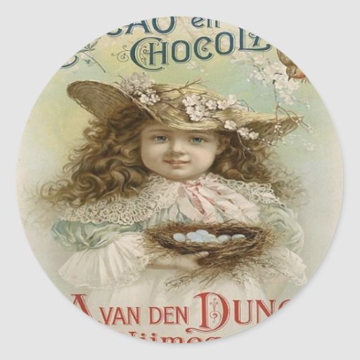 VINTAGE STICKERS - CHOCOLATE ADVERTISEMENT - GIFTS