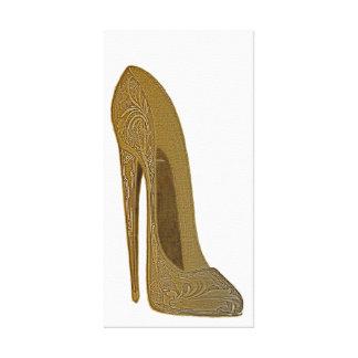 Vintage Stiletto Shoe Art Canvas Print