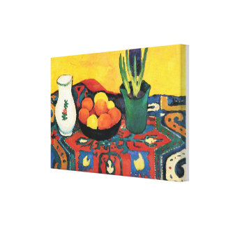 Vintage Still life Hyacinth carpet August Macke Canvas Print