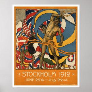 Vintage Stockholm Sports Sweden Poster