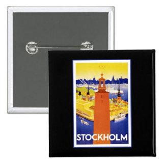Vintage Stockholm Sweden Buttons