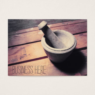 Vintage Stone Pestle and Mortar Retro Inspired Business Card