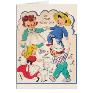 Vintage Story Book Characters Birthday Card