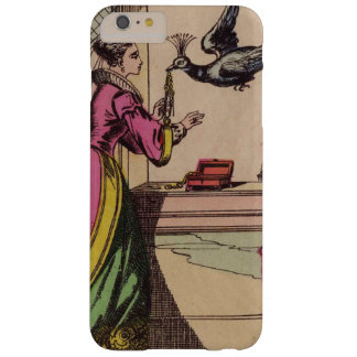 Vintage Storybook Woman & Peacock Barely There iPhone 6 Plus Case