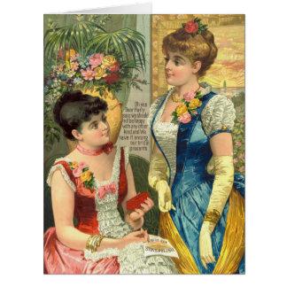 Vintage Stove Polish Ad 1887 Big Greeting Card