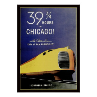 Vintage Streamliner Locomotive Poster