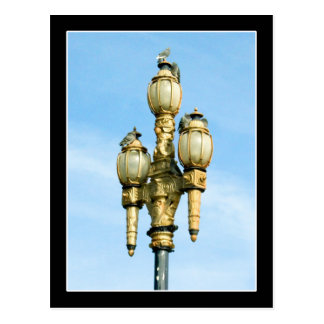 Vintage Street Light - San Francisco Postcard