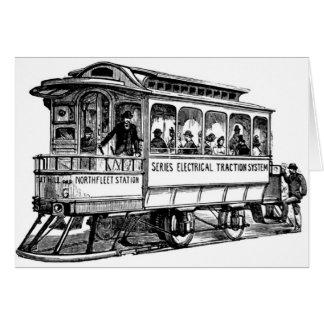 Vintage streetcar card