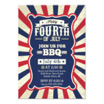 Vintage Stripe 4th of July Party Invites