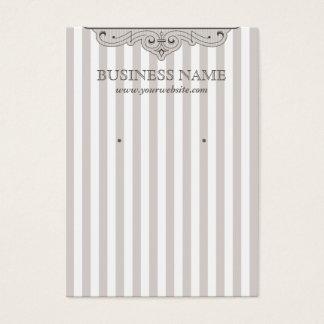 Vintage Stripe Lines Earring Display Card