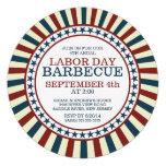Vintage Stripe Summer Barbecue Party Invite