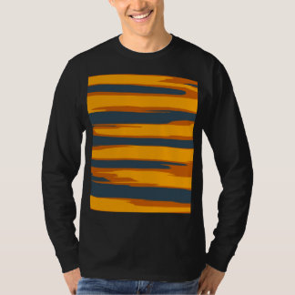 Vintage Striped Abstract Art T-Shirt