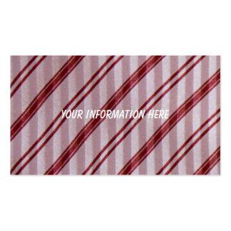 Vintage Striped Necktie Textile Business Cards