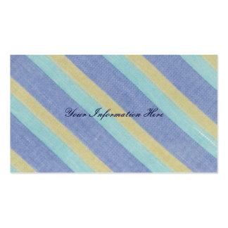 Vintage Striped Textile Business Cards