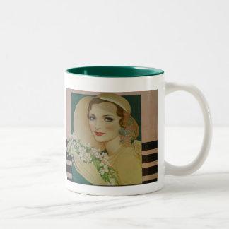 Vintage Style 1931 Two-Tone Coffee Mug