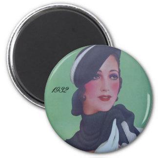 Vintage Style 1932 6 Cm Round Magnet