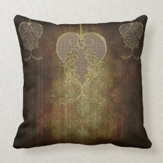 Vintage Style 3 Heart Pillow