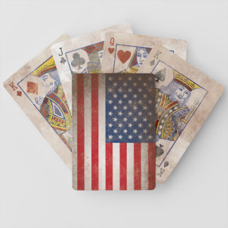 Vintage Style American Flag Antiqued Playing Cards