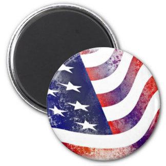 Vintage Style American Flag Magnet