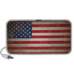 Vintage Style American Flag Patriotic Design Mini Speaker