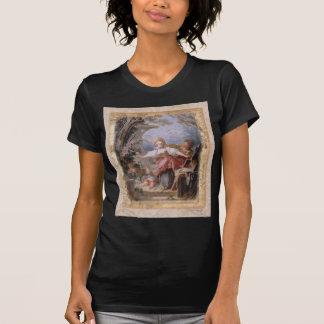 Vintage Style Art Family in Garden T-Shirt