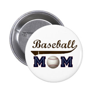 Vintage Style baseball mom Button