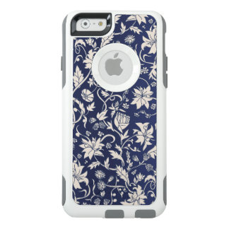 Vintage style beautiful blue floral pattern OtterBox iPhone 6/6s case