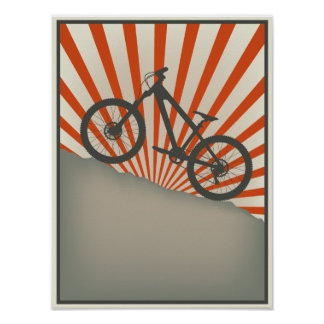 Vintage style bike poster